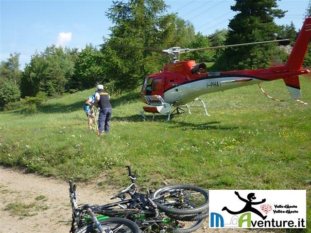 Elicottero Monte Bianco : Eli bike un mix tra elicottero e mtb per scoprire la