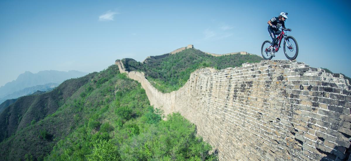 Video David Cachon In Mtb Sulla Grande Muraglia Cinese
