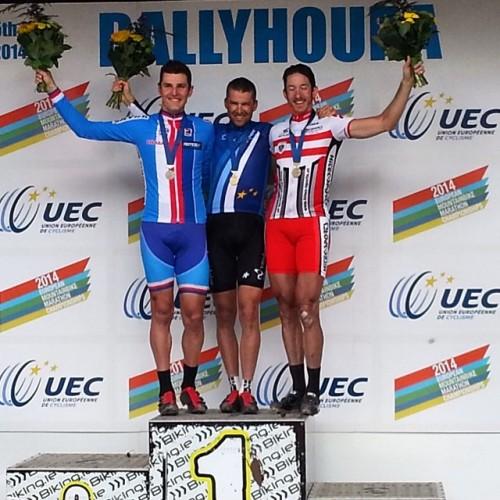 Il podio dell'europeo di Ballyhoura.