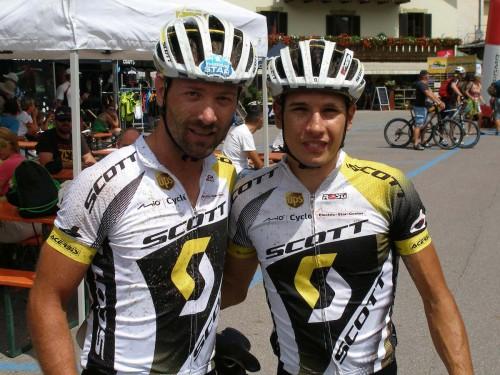 Franz Hofer e Daniele Mensi, terzi nella quarta tappa della Transalp.