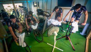 """La nazionale francese e i curiosi allenamenti nella """"Thermo Training Room"""""""
