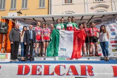 Il podio della categoria amatoriale.