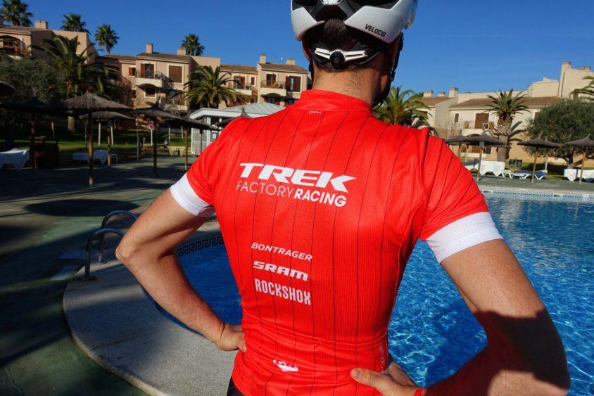 Sergio Mantecon con la maglia del Trek Factory Racing Xc 2018