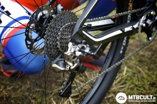 Lo Shimano Xtr Di2 montato sulla bici di Julien Absalon.