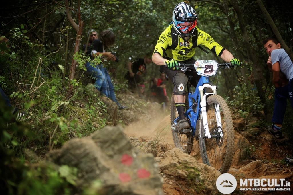 Manuel Ducci in azione a Finale Ligure. Ha chiuso in 48ª posizione.
