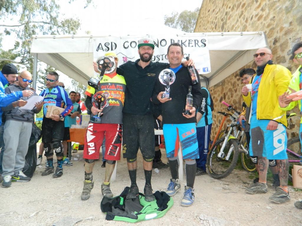 Il podio della gara di Bosco Scorace, prima prova del Campionato Regionale Enduro Mtb Sicilia 2015