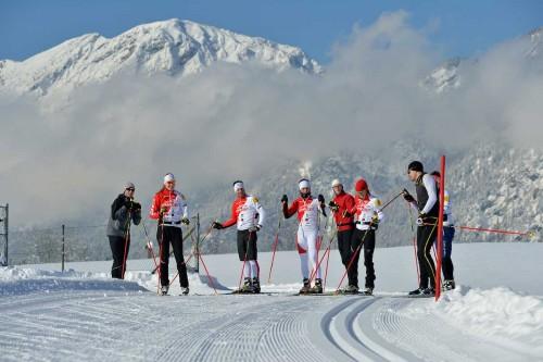 Il team Ghost si allena sulla neve...