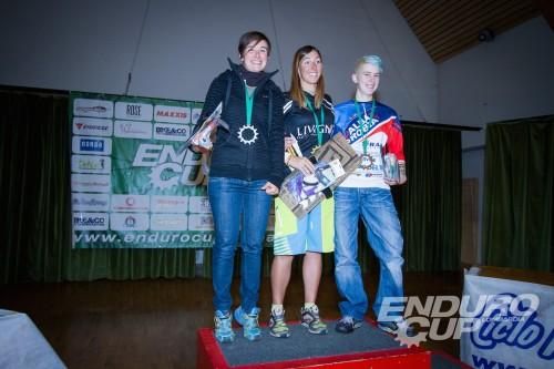 Il podio femminile Foto Enduro Cup Lombardia