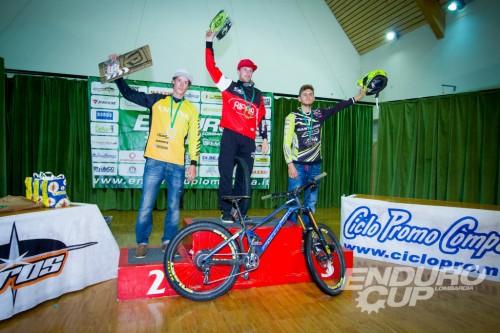 Il podio maschile Foto Enduro Cup Lombardia