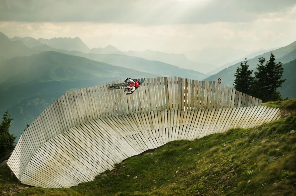 Un bike park austriaco sfruttato a manetta.
