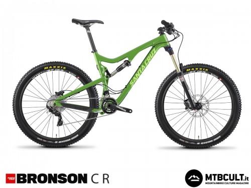 La Santa Cruz Bronson C R: 3599$, forcella Rock Shox Sektor Gold e cambio Shimano Xt.