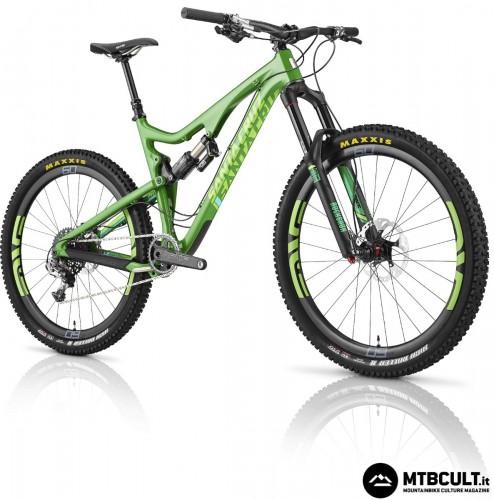 La Santa Cruz Carbon C in colorazione Dark Green & Lime Green.
