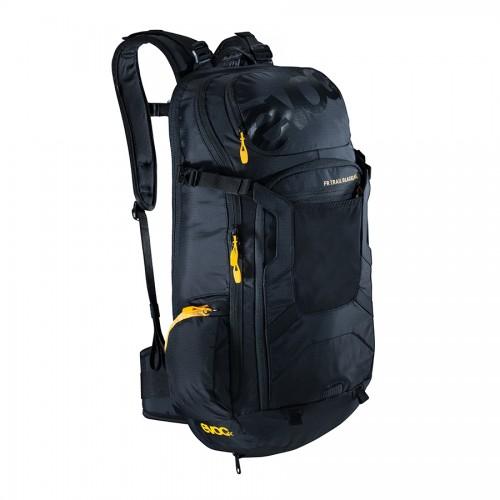 All'interno della gamma Protector Backpacks, la linea FR Trail Black Line (20 litri nella taglia S/M), dotata di paraschiena integrato ed omologato CE, si rinnova nel design rendendo più traspiranti il paraschiena e la fascia addominale.