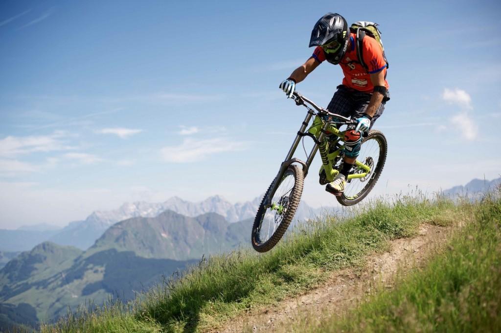 Richie Schley in azione sulle piste di Saalbach.