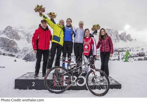 Il podio della gara femminile.