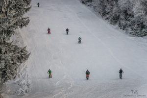 Sulla neve della Carinzia, naturalmente in Mtb