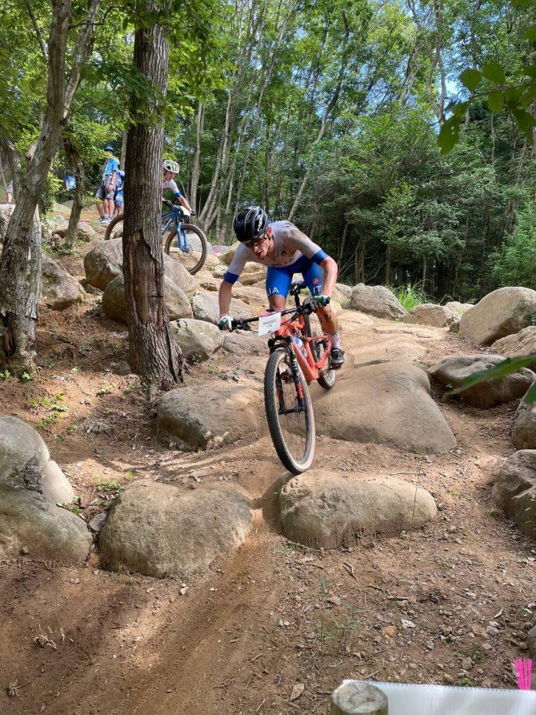 Luca Braidot sul percorso olimpico